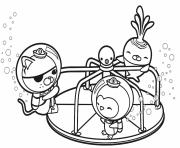 friends are found on a merry go round octonauts dessin à colorier