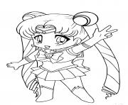 chibi sailor moon kawaii dessin à colorier