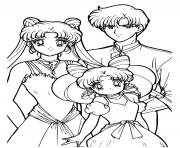 Sailor Moon Family moment dessin à colorier