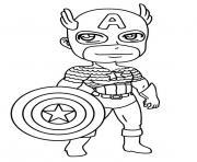 mini captain america dessin à colorier