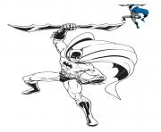 homme chauve souris DC Comics Film 2021 dessin à colorier