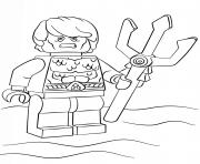 lego aquaman super heroes dessin à colorier