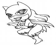 mini catwoman dessin à colorier