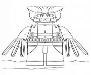 lego wolverine super heroes dessin à colorier