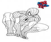spiderman 3 en reflexion dessin à colorier