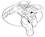 flash super heros en plein vitesse dessin à colorier