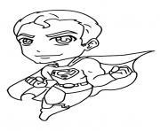 mini superman dessin à colorier