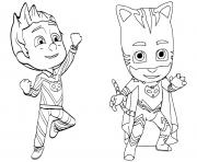 Pajama Hero Connor is Catboy de Pyjamasques dessin à colorier