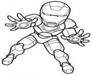 mini iron man dessin à colorier
