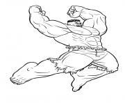 hulk ami de flash super heros dessin à colorier