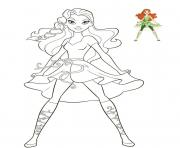 dc super hero girl dessin à colorier