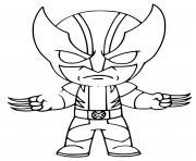 Wolverine fortnite dessin à colorier