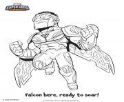 falcon marvel super heros dessin à colorier