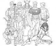 the avengers dessin à colorier