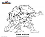 Black Widow super heros marvel dessin à colorier