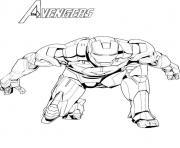 avengers iron man dessin à colorier