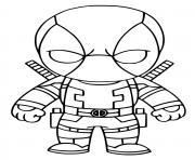 Deadpool marvel dessin à colorier