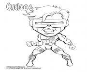 cyclops marvel super heros dessin à colorier