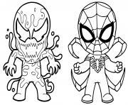 venom vs spiderman dessin à colorier