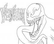Venom Eddie Brock Marvel dessin à colorier
