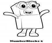 numberblocks 2 two dessin à colorier