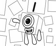 Numberblocks Number 1 dessin à colorier