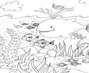 mer et poissons maternelle dessin à colorier