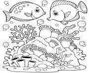 monde marin dessin à colorier