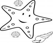 etoile de mer dessin à colorier
