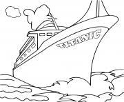 bateau titanic rms transatlantique britannique dessin à colorier