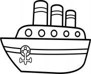 bateau marin facile maternelle dessin à colorier