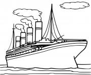 bateau titanic dessin à colorier