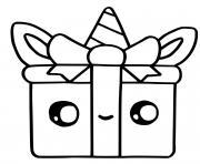 cute gift kawaii christmas dessin à colorier