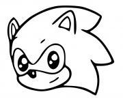 sonic kawaii dessin à colorier