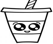 boisson kawaii dessin à colorier
