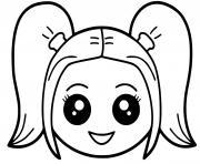 fille harley quinn kawaii dessin à colorier