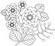 fleurs simples du printemps soleil dessin à colorier