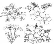fleurs de printemps dessin à colorier