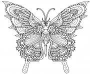 papillon printemps mandala dessin à colorier