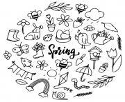 printemps images maternelle dessin à colorier
