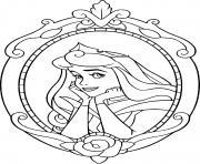 Coloriage aurore et sa belle robe de princesse dessin