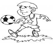 joueur de soccer dessin à colorier