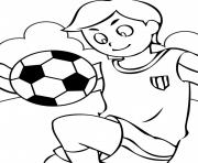 sport soccer garcon dessin à colorier