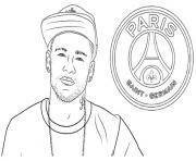 neymar psg foot dessin à colorier