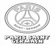 paris saint germain logo psg football dessin à colorier