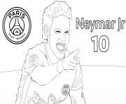 psg neymar jr 10 dessin à colorier