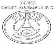 PSG Logo Paris Saint Germain FC dessin à colorier