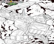 power rangers beast morphers megazord dessin à colorier