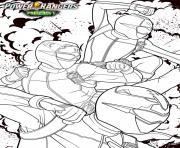 power rangers beast morphers devon ravi et zoey dessin à colorier