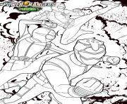 power rangers beast morphers l equipe au complet dessin à colorier